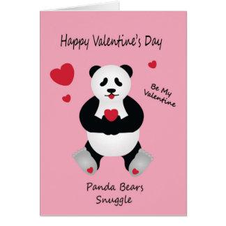 Pandabjörn valentin Wish för dag för barn Hälsningskort