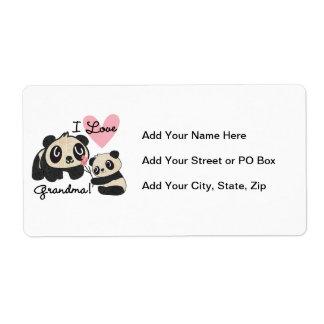 Pandabjörnar älskar jag mormor fraktsedel