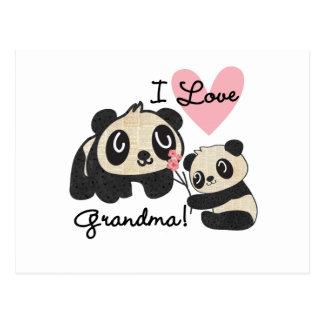 Pandabjörnar älskar jag mormor vykort
