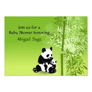 Pandabjörnar och neutral baby showerinbjudan för 12,7 x 17,8 cm inbjudningskort