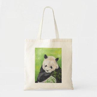 Pandabjörnen hänger lös tygkasse