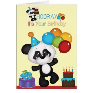 Pandabjörnen Hooray är det din födelsedag Hälsningskort