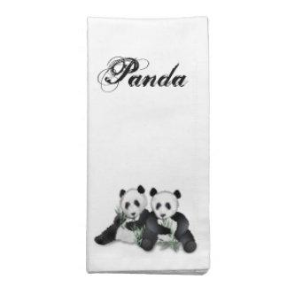 Pandabjörnen parar servetter