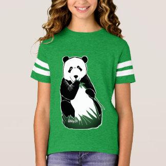 Pandabjörnflicka skjorta för fotboll tee shirts