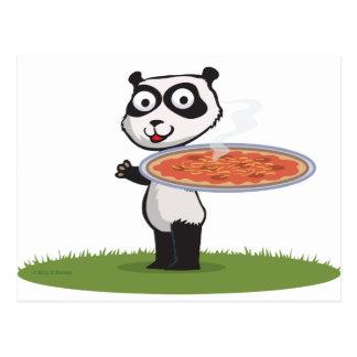 PandabjörnPizza Vykort
