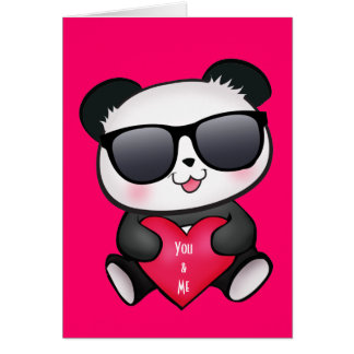 Pandabjörnvalentin kortet för dag personifierar OBS kort
