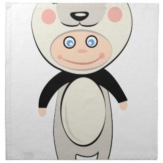 Pandadräkt Tygservett