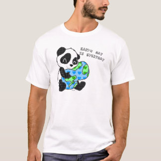 Pandaen kramar jorden/jordens dag t shirts
