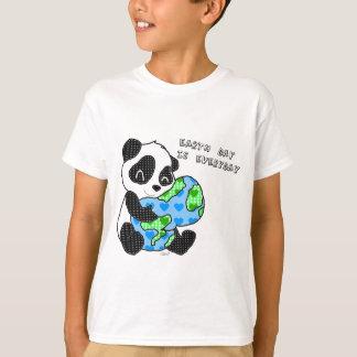 Pandaen kramar jorden/jordens dag tee