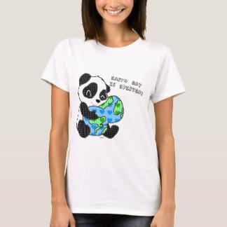 Pandaen kramar jorden/jordens dag tröjor