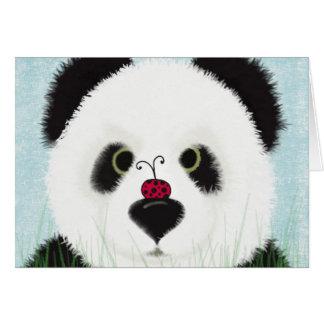 Pandaen och hans besökare hälsningskort