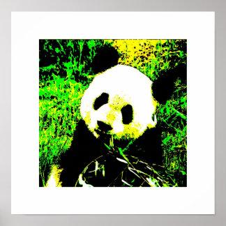 Pandaen poster tryck - pandaen som äter affischen