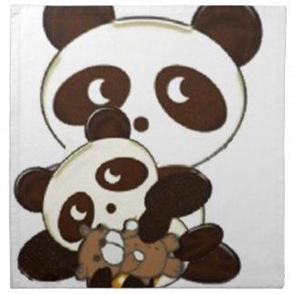 pandafamilj tygservett