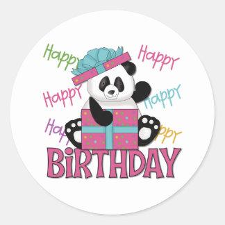 Pandafödelsedag Runda Klistermärken