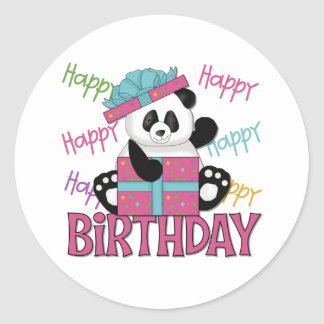 Pandafödelsedag Runt Klistermärke