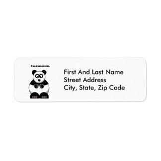 Pandamonium Pandatecknad Returadress Etikett