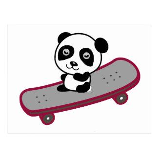 Pandaridning på skateboarden vykort