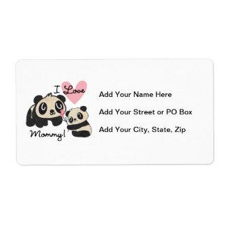 Pandas älskar jag mammor fraktsedel