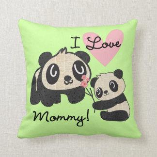 Pandas älskar jag mammor kudde