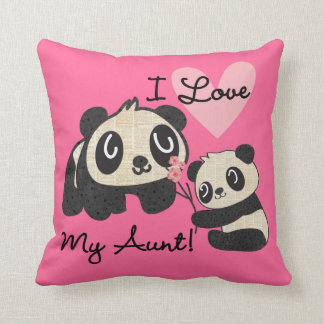 Pandas älskar jag min moster kudde