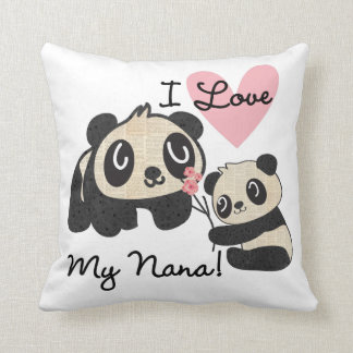 Pandas älskar jag min Nana Kudde