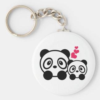 Pandas Rund Nyckelring