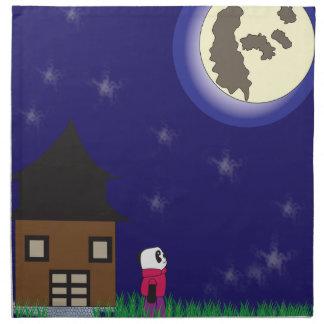 Pandaservett för bra natt tygservett