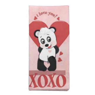 Pandaservetter för valentin XOXO