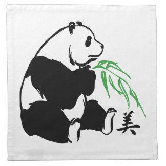 Pandaskönhet Tygservett