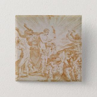Pandora som öppnar boxas standard kanpp fyrkantig 5.1 cm