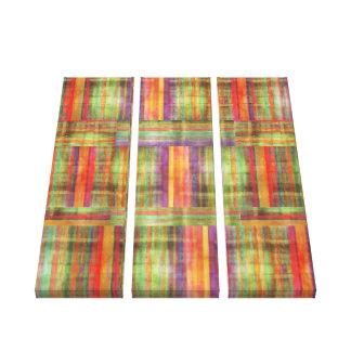 Panel för samtida konstrandmönster tre canvastryck