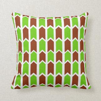 Paneled grönt och rött kudde