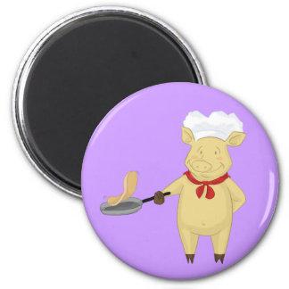 Pannkaka som bläddrar griskock magnet