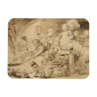 Pannkakatillverkare av Jean-Honore Fragonard Magnet