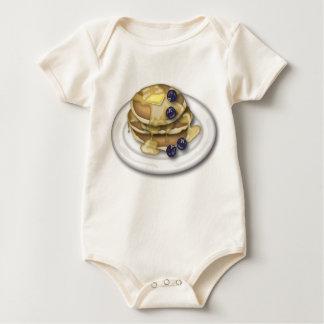 Pannkakor med sirap och blåbär body för baby