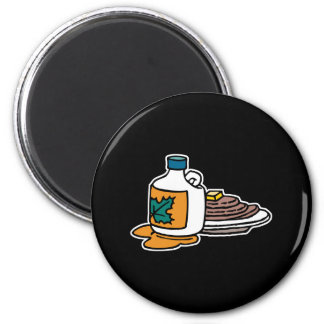 pannkakor och lönnsirap magnet
