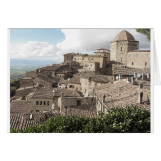 Panorama av den Volterra byn, landskap av Pisa Hälsningskort