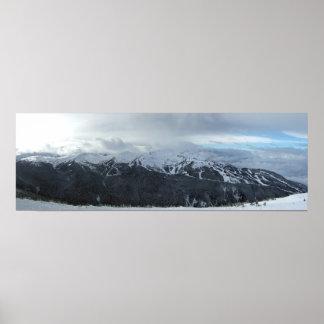 Panorama av whistlers symfoni och harmoniområde poster
