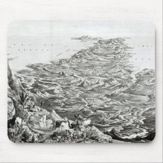 Panorama- beskåda av Indien Musmatta