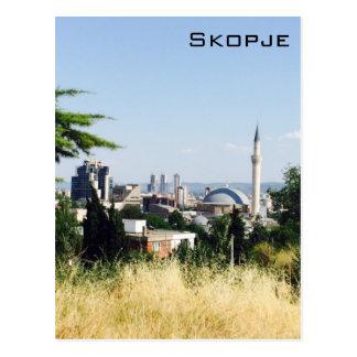 Panorama- beskåda av Skopje Vykort