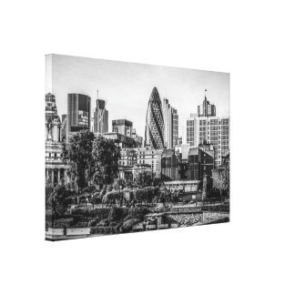 Panorama- beskåda av staden av London Canvastryck