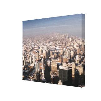 Panorama- beskåda av staden canvastryck