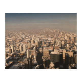Panorama- beskåda av staden trätavla