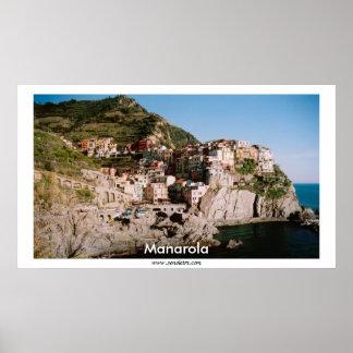 Panorama- Manarola beskådar Poster