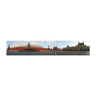 Panoramat beskådar av rött kvadrerar i Moscow Canvastryck