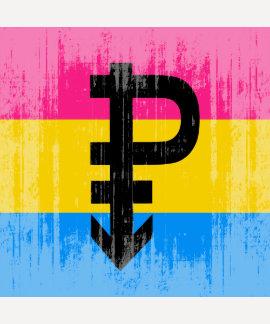 Pansexual flagga för vintage t-shirt