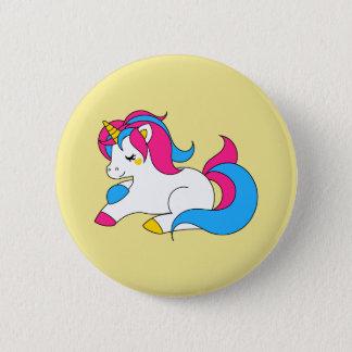 Pansexual unicorn standard knapp rund 5.7 cm
