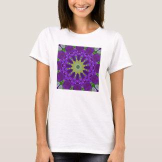 Pansy Pansiesnatur, Blomma-Mandala T-shirt