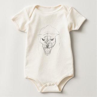 Pantern skissar bodies för bebisar