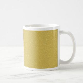 PANTONE-CustardGULT med fint fauxglitter Kaffemugg